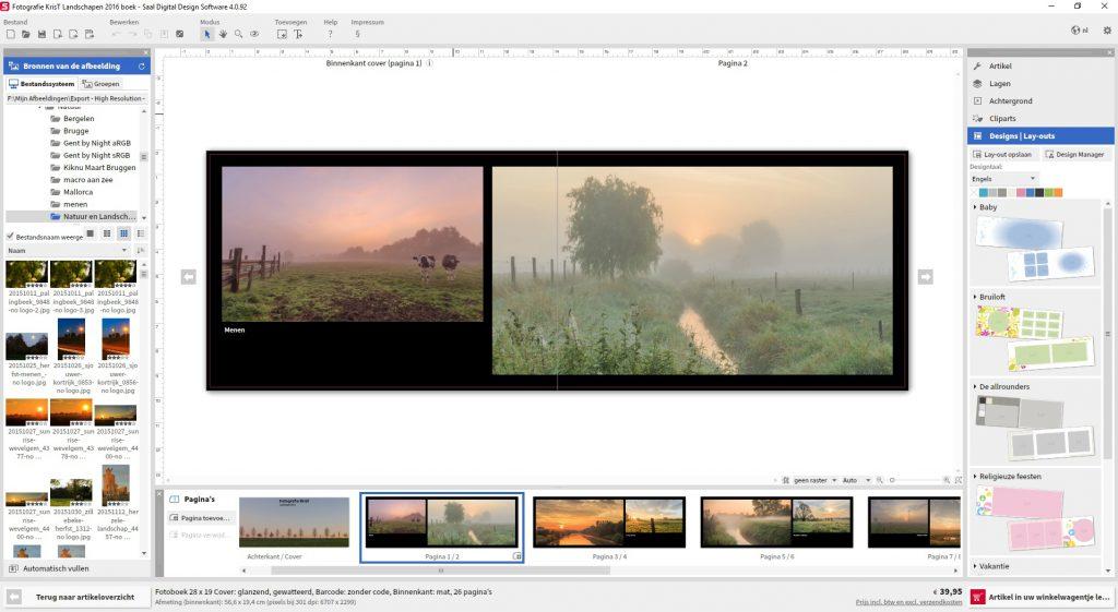 Review Fotoboek Saal-Digitaal - ontwerp van fotoboek met de software